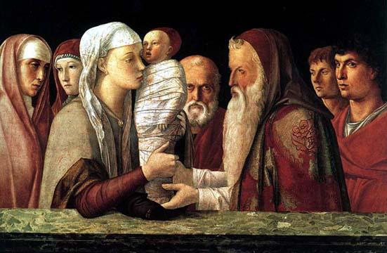 Angelico, Présentation au Temple dans images sacrée Presentazione%20di%20Ges%F9%20al%20Tempio%20Mantegna